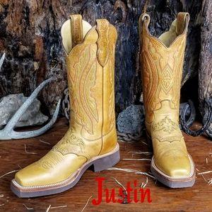 NWOB Justin techno crepe cowboy boots 6.5B